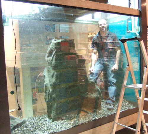 Réparation d'aquarium